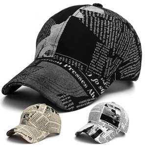 NEW Net Red Hat Men And Women Spring And Summer Fashion Retro Newspaper Baseball Cap Outdoor Sports Sunscreen Wild Cap