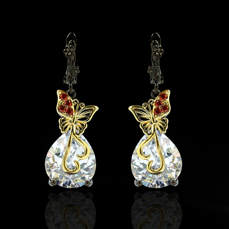 14k multi preto jóias de ouro fino natural diamante dorp brincos para mulher anillos de bizuteria branco pedra preciosa garnet brinco caixa