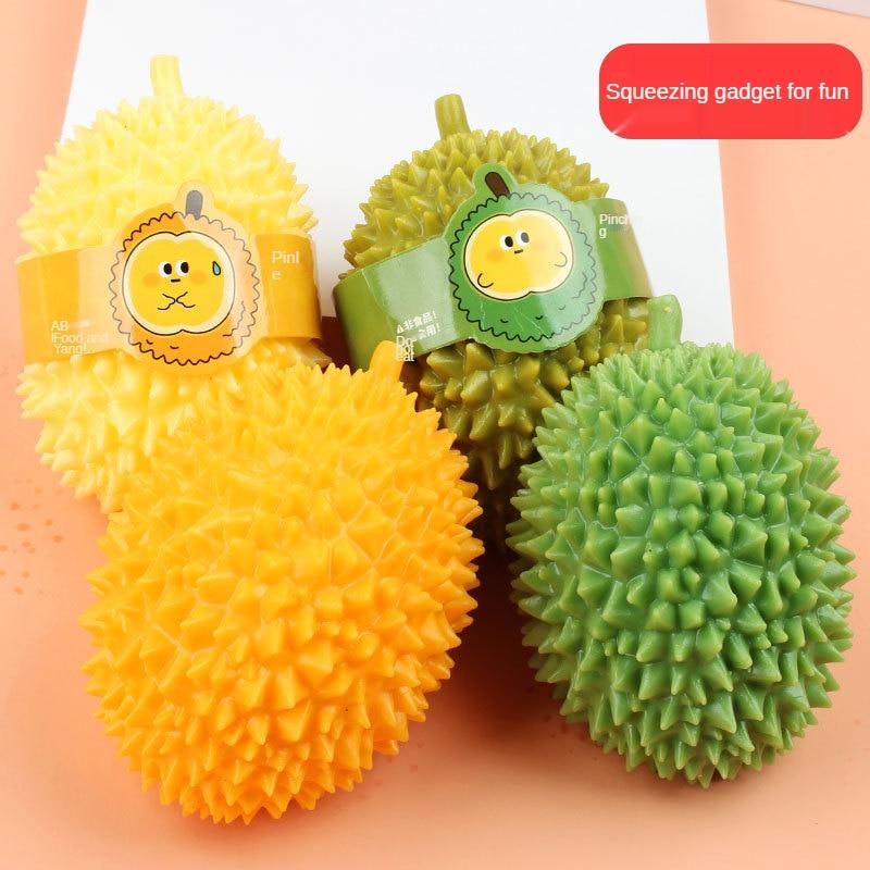 13cm Fidget Toys For Children Simulation Food Antistress Vent Durian Kawaii Soft Fruit Stress Ball Not Broken Gift For Adults 18