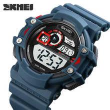 Часы наручные SKMEI мужские светодиодсветильник, брендовые многофункциональные водонепроницаемые с секундомером