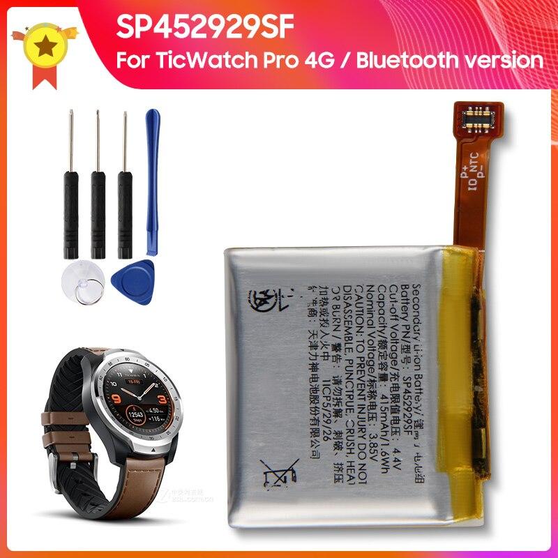 بطارية أصلية 100% SP452929SF for TicWatch Pro 4G/بلوتوث إصدار 415mAh بطارية بديلة أصلية + أدوات