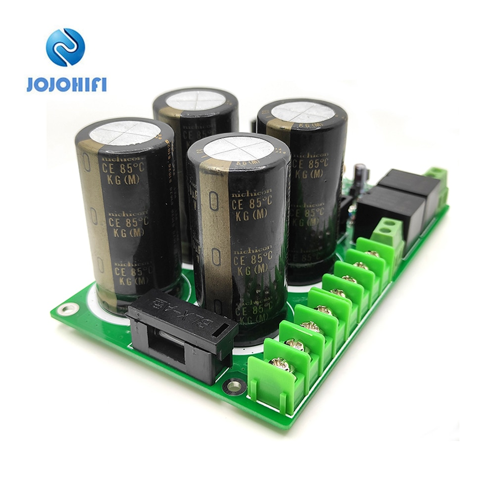 63V 6800UF AC33-40V Rectifier Filter Board with Speaker Protection for Power AMP Amplifier Assembled Board diy pcb board for 62pcs capacitor array power supply rectifier board