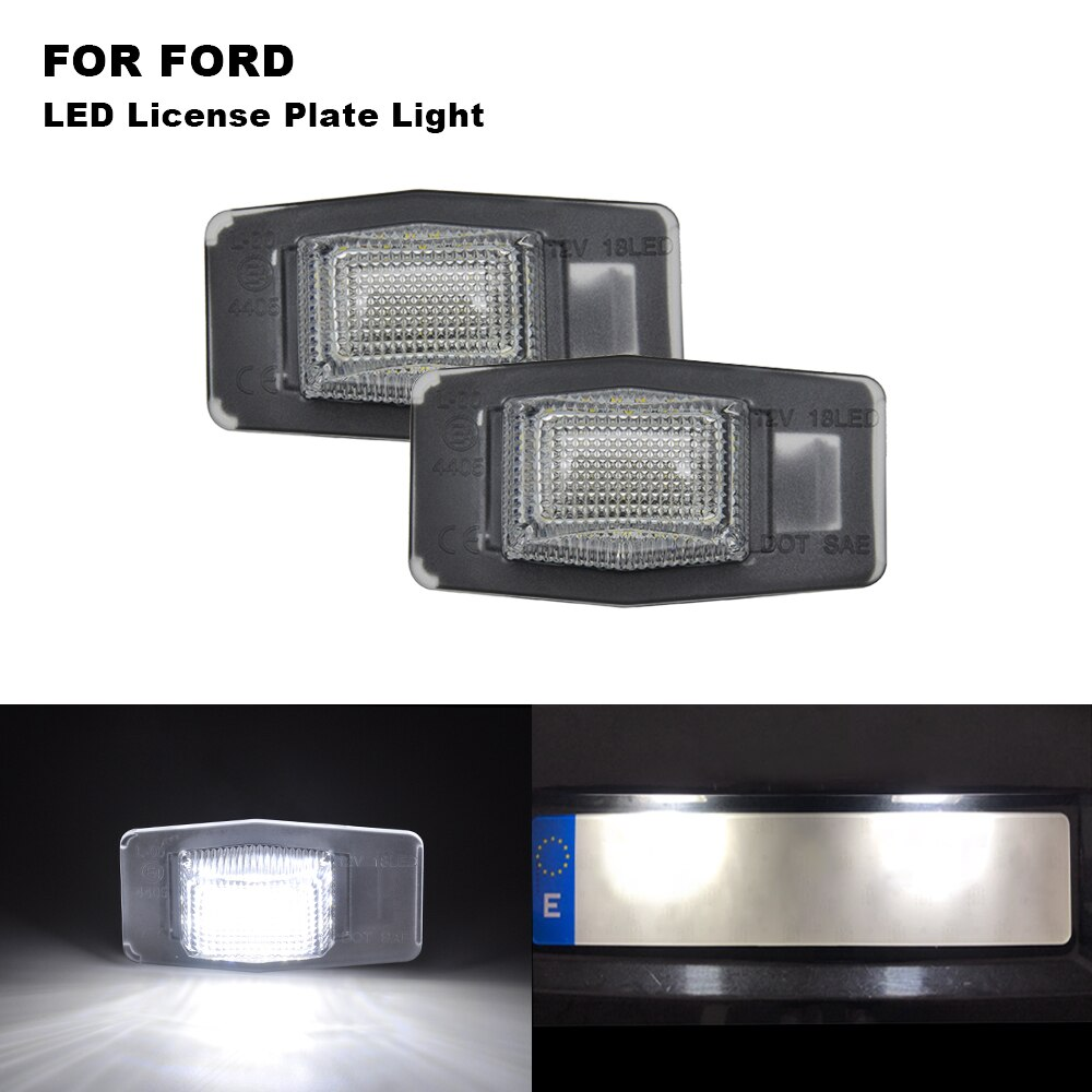 2 uds coche LED luz de placa de matrícula para FORD Escape Mercury Mariner Mazda Protege MPV homenaje 2001-2006 Miata MX-5 1999-2005