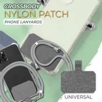 universal crossbody nylon patch phone lanyards mobile phone strap lanyard 9 colors soft rope for cell phone hanging cord