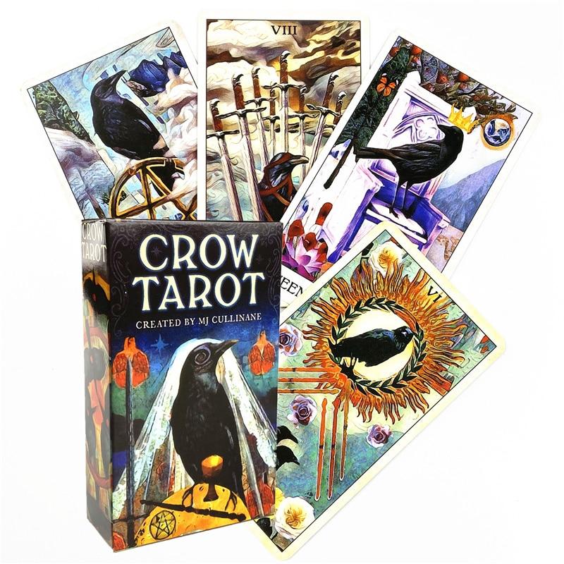 Фото - 2021 ворона, карты Таро и PDF, руководство, колода для вечерние, игр, судьбы, гадания, карты, оптовая продажа таро мистическая спираль руководство и карты