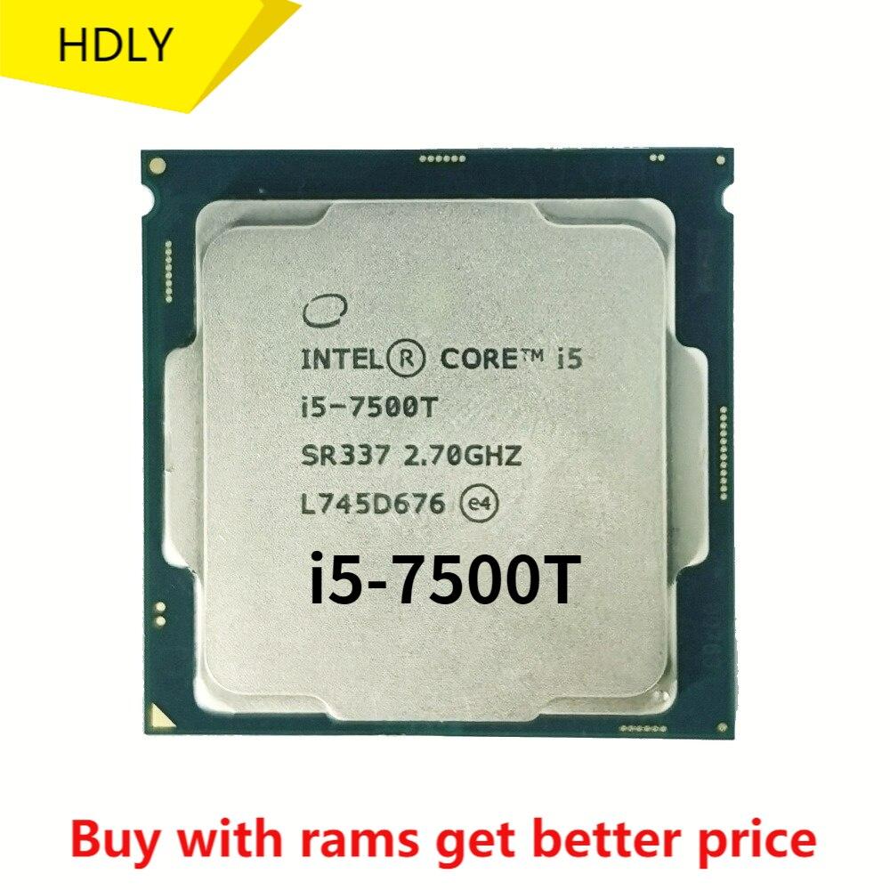 إنتل كور i5-7500T i5 7500T 2.7 GHz رباعية النواة رباعية موضوع معالج وحدة المعالجة المركزية 6M 35 واط LGA 1151