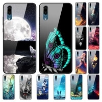 case for huawei p20 back phone cover black silicone bumper with tempered glass series 3