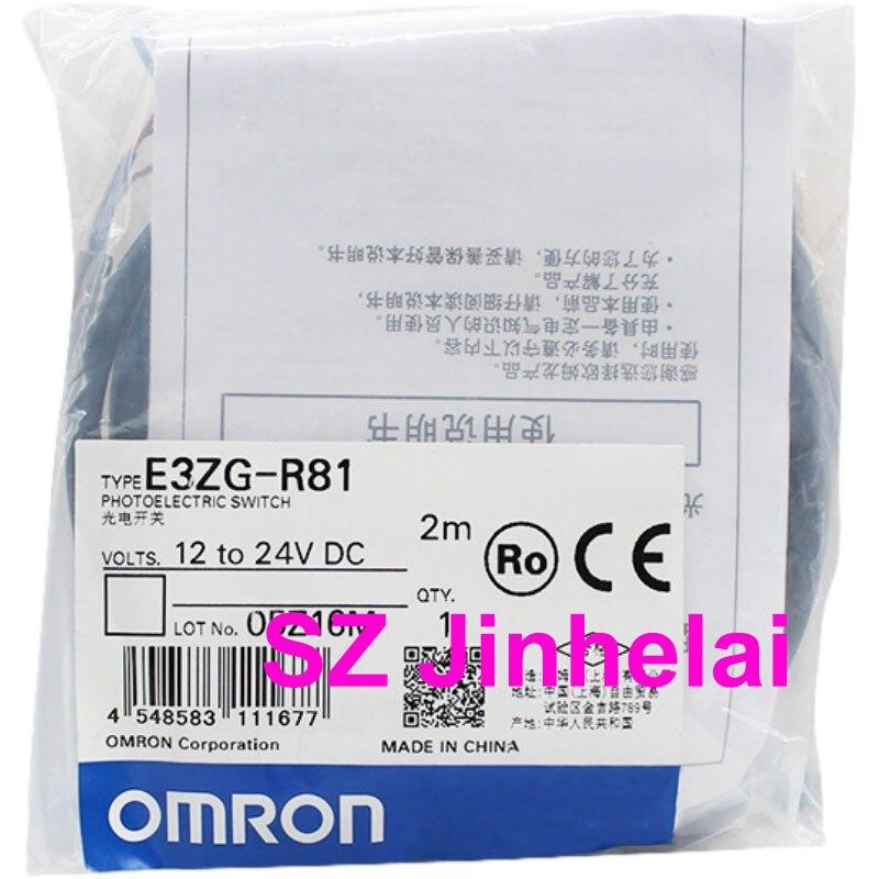 OMRON E3ZG-R81 الأصلي الأصلي الكهروضوئية التبديل (يمكن استبدال E3Z-R81) PNP 2M