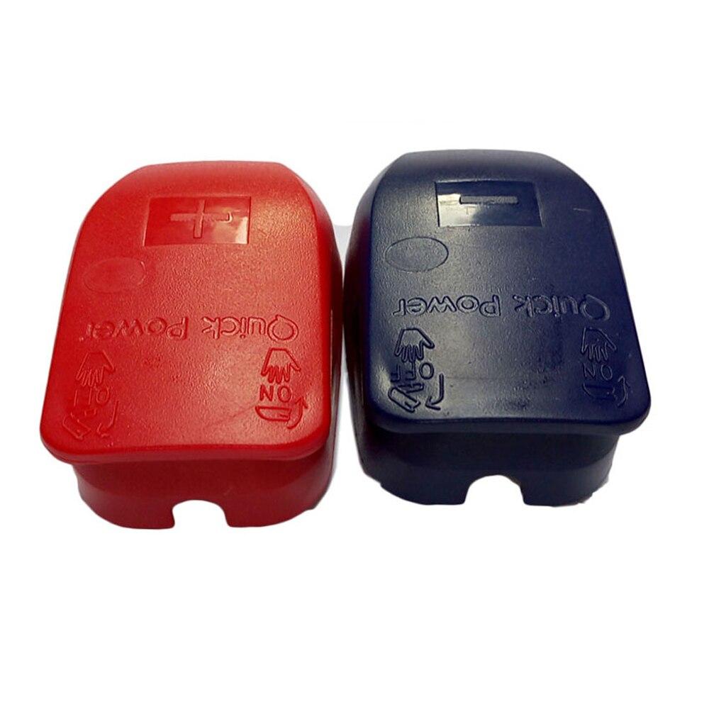 Conector rápido de batería Terminal de batería con tapas para postes superiores baterías accesorios de coche rojo/azul