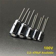 100V 2.2/6.8/12/22/27/33/39/47/56/68/82/100/120/150/220/330/390/470uF Good quality Aluminum Electrolytic Capacitor