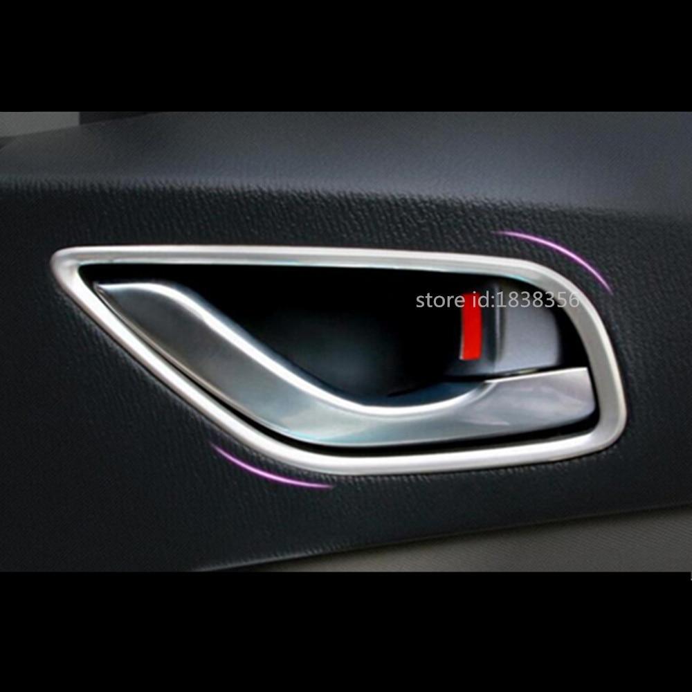 For Mazda CX-5 CX5 2012 2013 2014 2015 2016 Auto Car Body Cover Stick Trim ABS Chrome Door Inner Built Handle Bowl Frame 4pcs