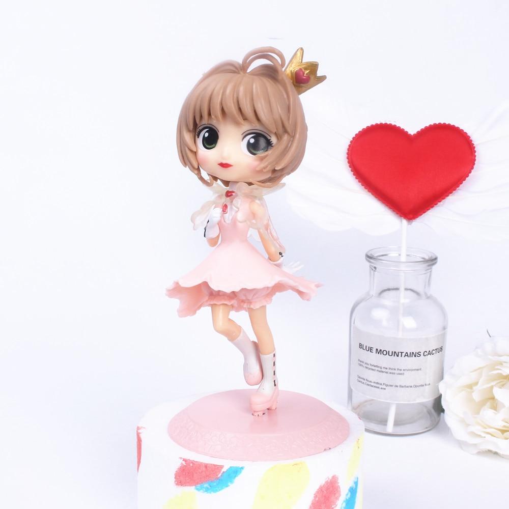 15 CENTÍMETROS Modelo boneca PVC Brinquedos Dos Desenhos Animados Anime Card Captor Sakura cosplay Presente para a menina