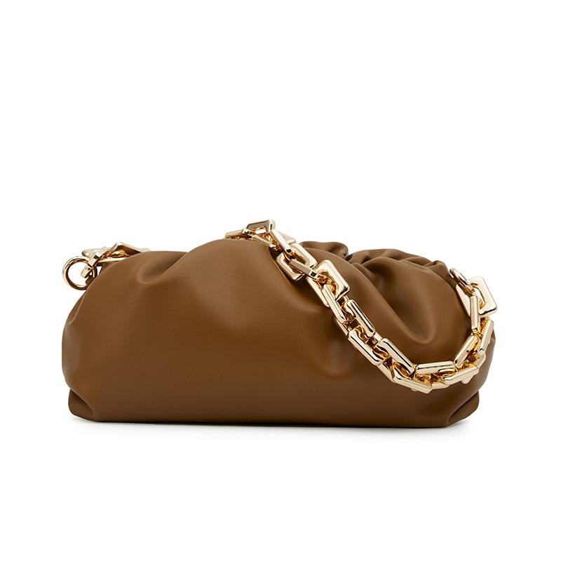 سلسلة سحابة حقيبة المرأة 2021 موضة جديدة جلدية كتف واحد مائل تمتد حقيبة صافي الأحمر المحمولة الإبط أضعاف حقيبة