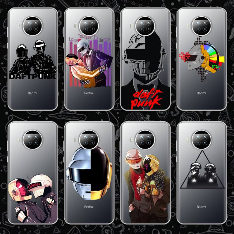 rock music Daft Punk Helmet Phone Case Transparent for Xiaomi mi Redmi note 10 t 8 9 pro lite 11 Samsung S 8 9 10 20 plus ultra