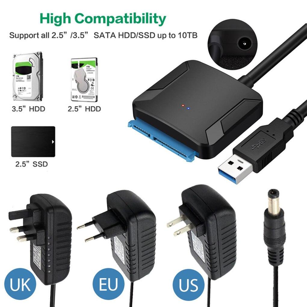 Cable USB 3,0 a SATA 3, adaptador de conversión a USB, compatible...