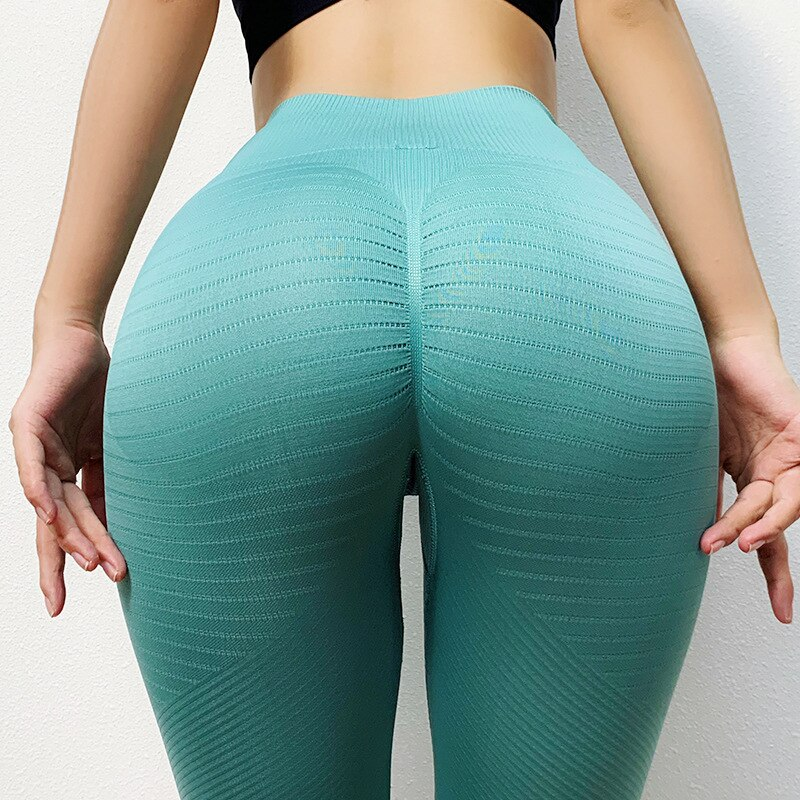 Sexy Push Hip High Waist Sports Yoga Pants Women Seamless Knitting Belly Quick-Drying Gym Sports Yog