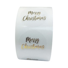 100-500 stücke Runde Klar Frohe Weihnachten Aufkleber Danke Karte Box Paket Etikett Dicht Aufkleber Hochzeit Decor Schreibwaren