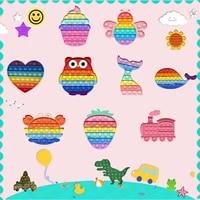 pop anti stress relief fidget toys rainbow push pop bubble fidget toy squishy simple dimple antistress toys for adult children