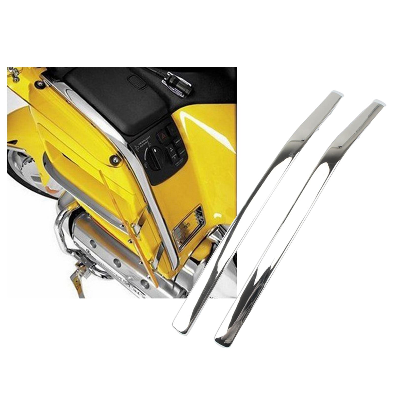 2 peças motocicletas conectando strake carenagem para honda goldwing gl1800 01-11