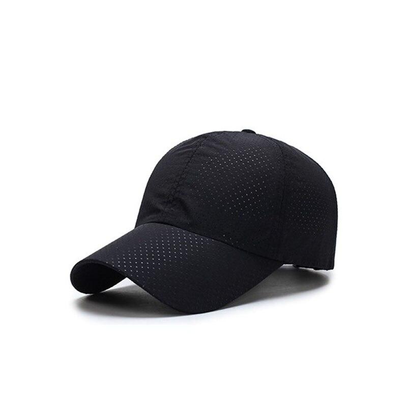 Fisvds Men Women 2017 Summer Snapback Quick Dry Mesh Baseball Cap Sun Hat Bone Breathable Hats