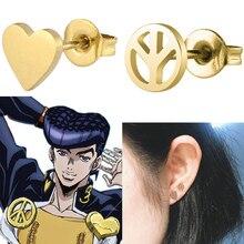 JoJo's Bizarre Adventure highashikata Josuke Cosplay orecchini puntelli orecchini a bottone