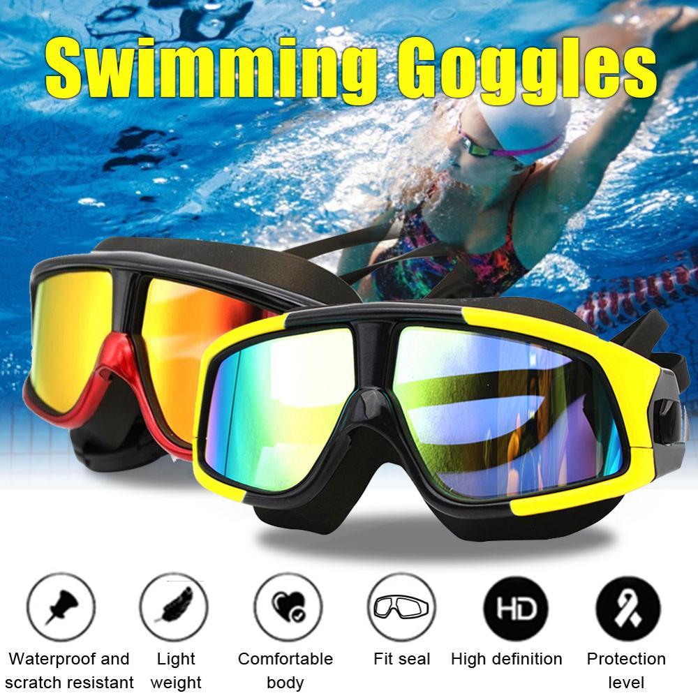 2020 óculos de natação de silicone profissional anti-nevoeiro óculos de natação uv com earplug para esportes aquáticos