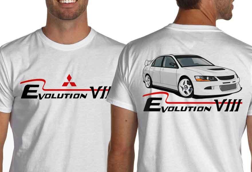 2020 nuevo Mens T camisa Casual Hombre los ventiladores del coche Lancer Evolution VIII blanco Jdm camiseta Evo 8 camiseta para manifestación camisas