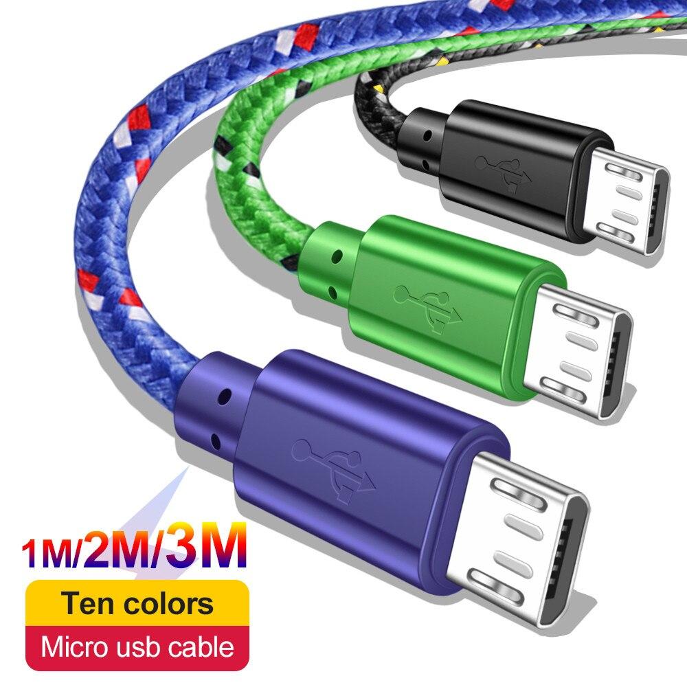 Cable cargador de datos Micro USB, Cable de carga rápida Microusb de...