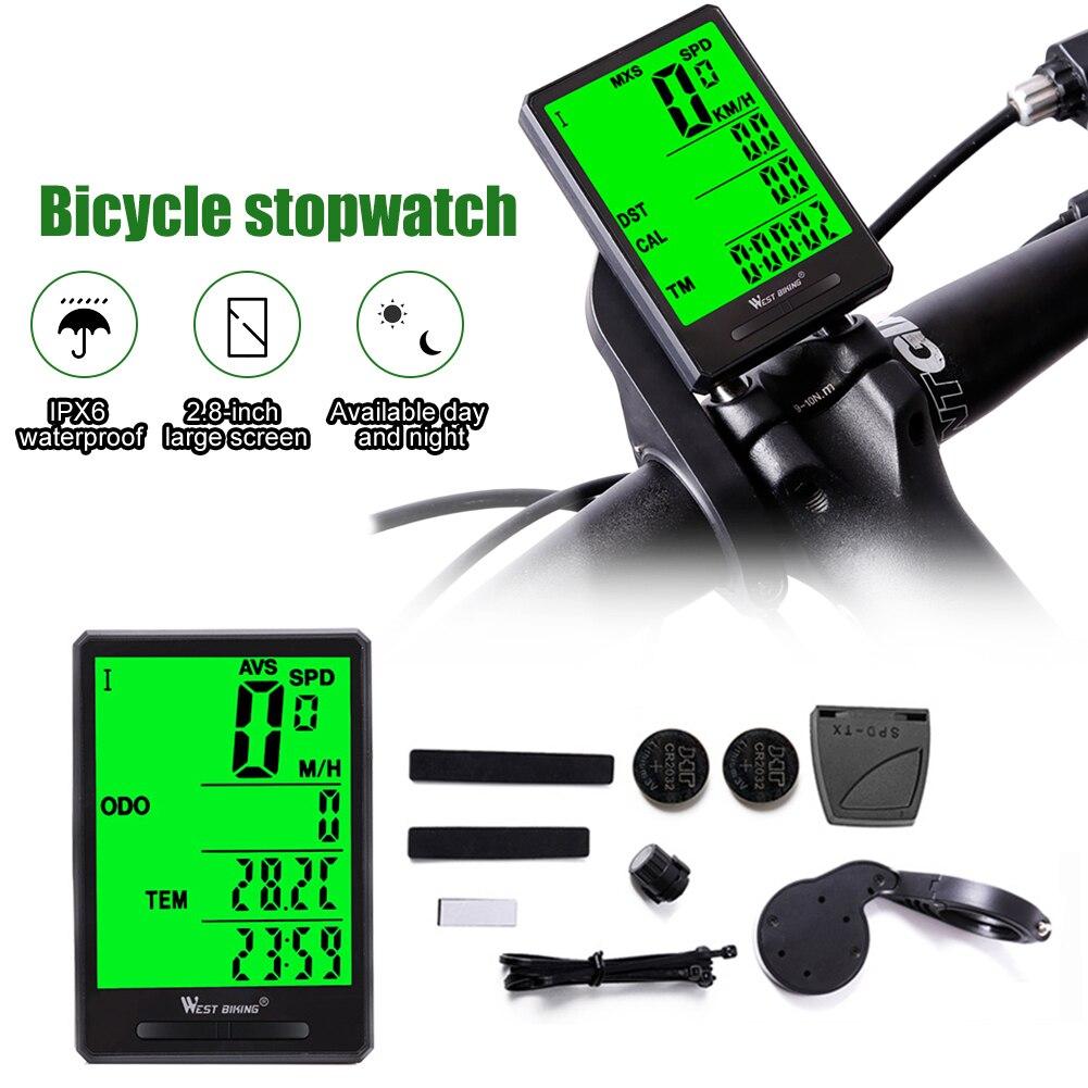 Odómetro para bicicleta a prueba de agua, odómetro inalámbrico para bicicleta de montaña, velocímetro, LED, Digital