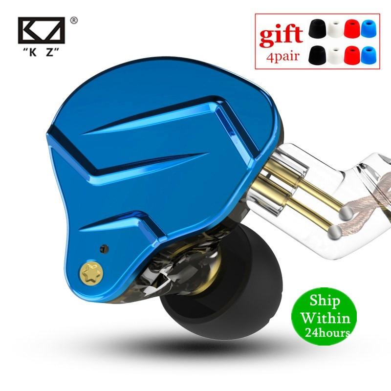 KZ ZSN PRO 1BA+1DD Hybrid technology HIFI Metal In Ear Earphones Bass Earbud Sport Noise Cancelling Headset ZS10 PRO ZST AS10