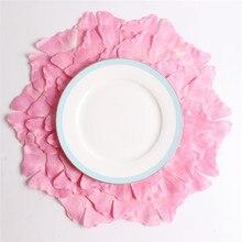 Mantel de mosaico rosa de Ginkgo con diseño de flores, Mantel Individual de forma Irregular para boda, cocina, decoración, posavasos, accesorios de comedor