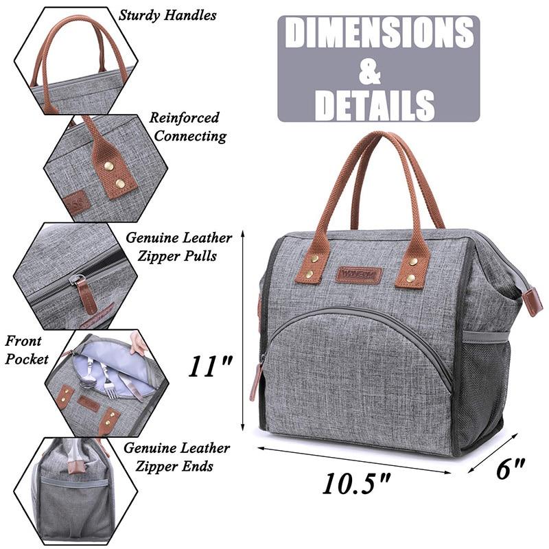 Bolsas de almuerzo impermeables, bolsa de Picnic aislante térmica Unisex, bolsa térmica portátil, bolsa de Picnic profesional para Fitness