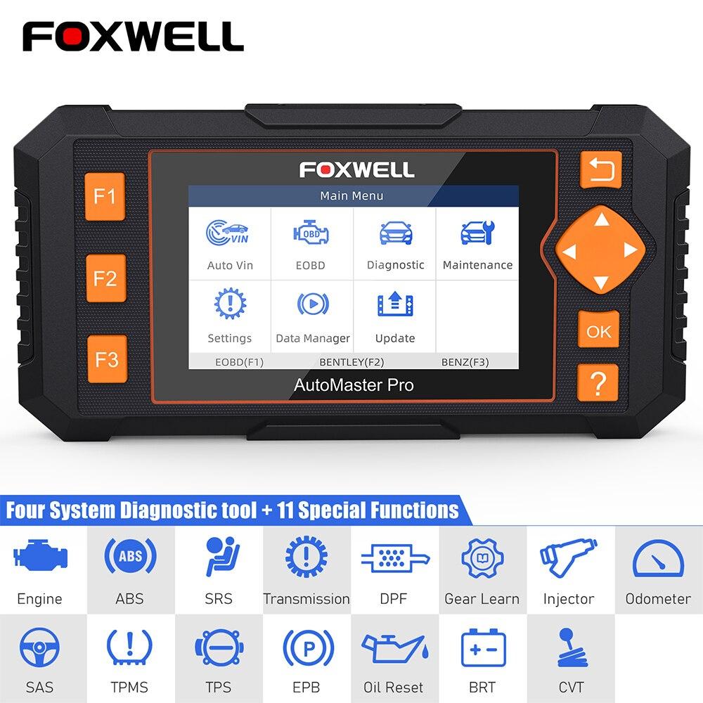 Foxwell NT634 OBD2 Automotive Scanner 4 System Diagnose DPF Injektor TPMS EPB BRT Öl Reset Service OBD 2 Auto Diagnose werkzeug