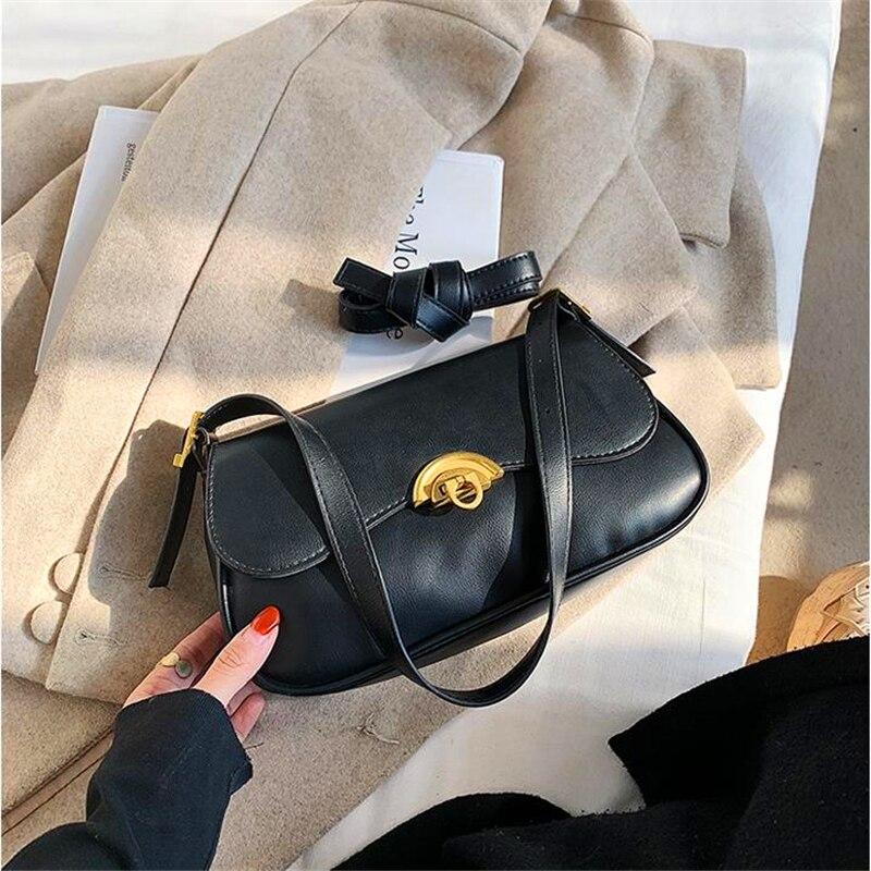 Bolso Baguette-Vintage para Mujer, Bandolera de diseñador de lujo, Torebki Damskie