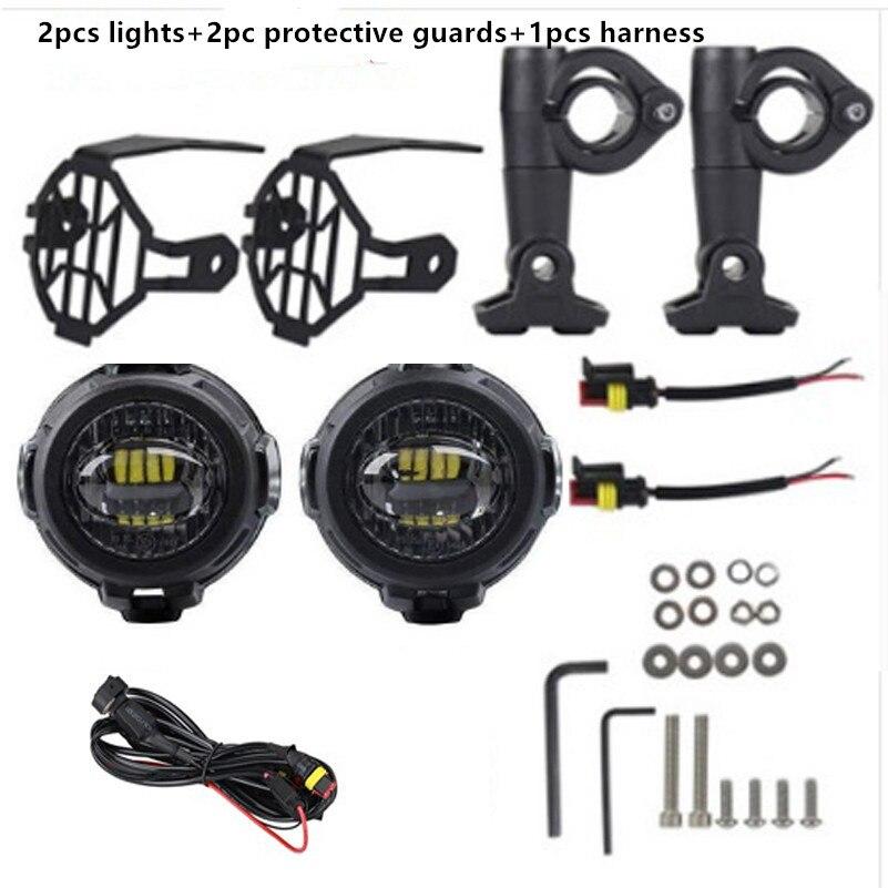 Farol de led para motocicleta, para bmw r1200gs/adv/f800gs/f700gs/f650fs 40w 6000k spot condução de farol de milha