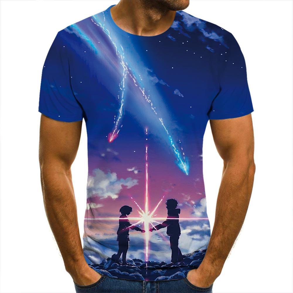 Camiseta 3D con Graffiti de sueo para hombre y mujer... Ropa nueva...