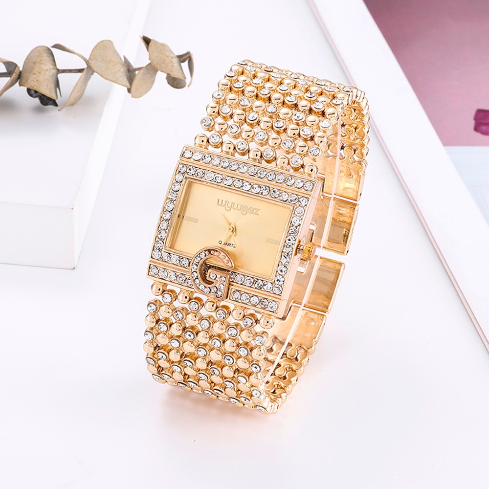 Women Watches Gold Luxury Brand Diamond Quartz Ladies Wrist Watches Stainless steel Clock Female Watch relogio feminino 2020 keep moving women top famous brand luxury casual quartz watch rose gold women water stainless steel wrist watches relogio