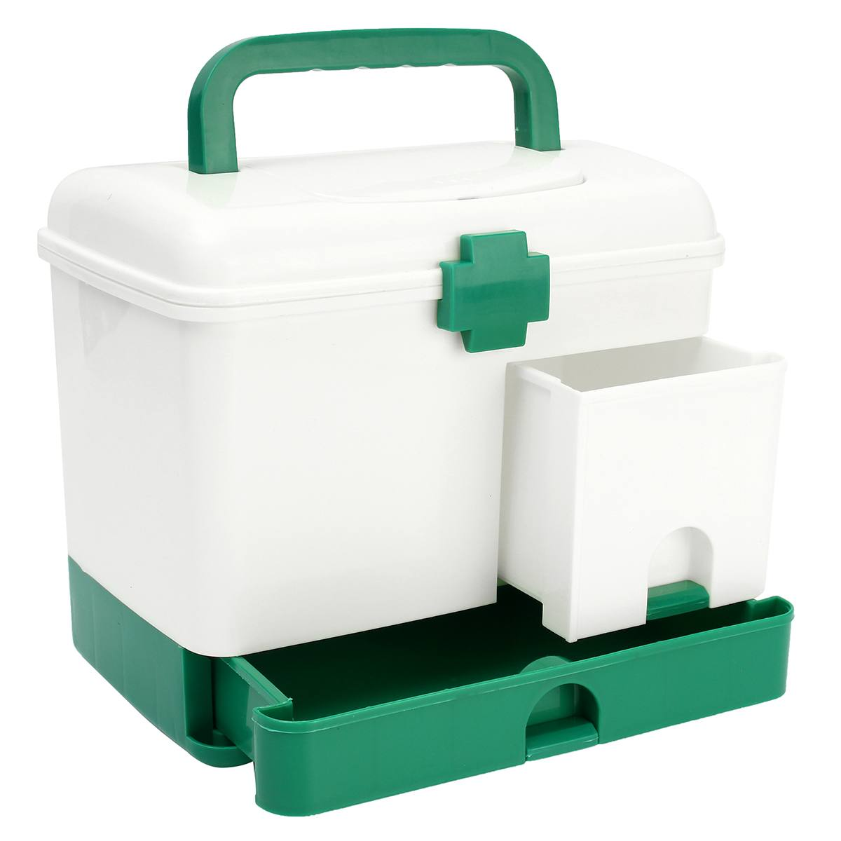 Caja de botiquín de uso doméstico de 3 capas, botiquín de primeros auxilios, organizador de compartimentos, estuche de modelo médico portátil de gran capacidad