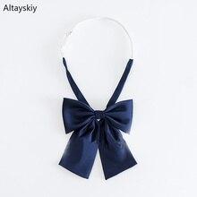 Cravates femme imprimé à rayures solides   Uniforme tout assorti écoliers, Simple, tendance et formel élégant dames, nœud Chic