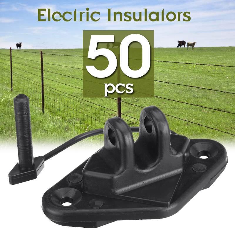 50 шт. винтовой Электрический забор, изоляторы для деревянных лесок, ленточный шнур