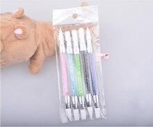 Yayoge 2 способа горный хрусталь кристалл ногтей Dotting ручка для дизайна ногтей скульптура ручка 3D изображение DIY Dotting кисти для рисования ногти инструменты для искусства