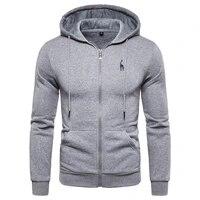2020 new autumn winter cotton hoodied mens sweatshirts solid hoody fleece thick hoodies men sportswear zipper sweatshirts men