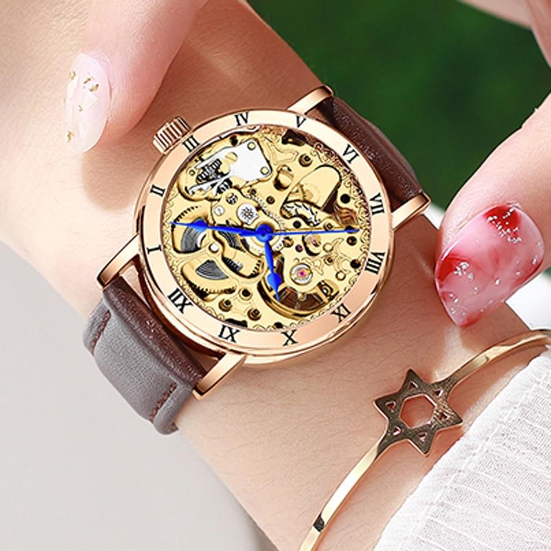 New 2020 Luxury Brand Skeleton Womens Mechanical Watch Ladies Waterproof Automatic Wrist Watches Gift for Women Zegarek Damski enlarge