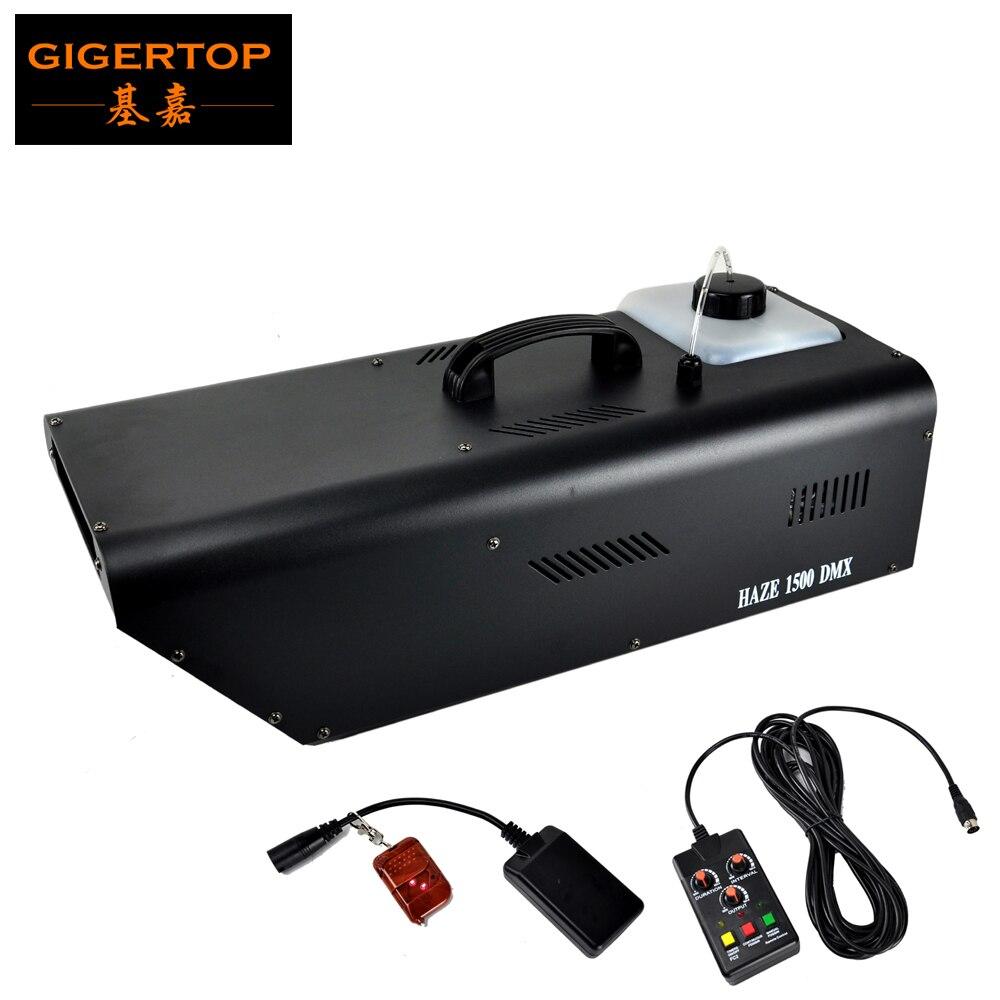 TIPTOP-آلة ضباب DMX 1500 واط ، مع جهاز تحكم عن بعد لاسلكي ، عمود أبيض ، معدات احترافية ، DJ ديسكو بار