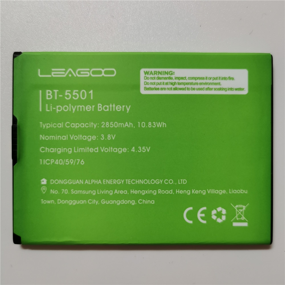 100% оригинальный новый телефон, аккумулятор 2850 мАч для LEAGOO M 9 M9 BT5501, детали для смартфонов, аккумулятор, аккумуляторы