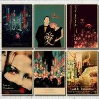 WTQ     peinture sur toile de film classique perdu en traduction  retro  affiche de Bar cafe pour decoration de salon  decoration de maison