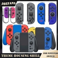joy con shell for nintendos switch console game replacement housing shell case cover ns switch back faceplate case full buttons