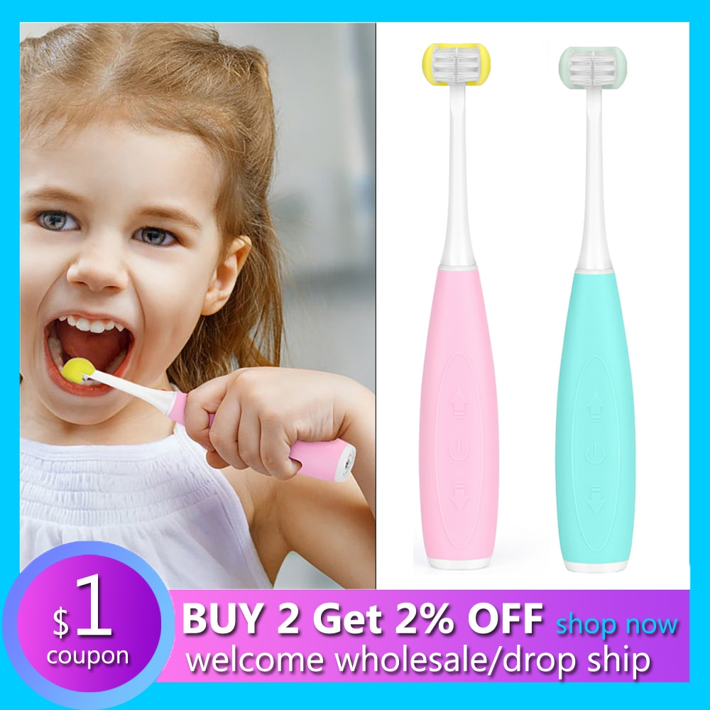 U-Shaped Sonic Electric Toothbrush For Kids USB Rechargeable Children Ultrasonic Oral Cleaning Teeth Brush Three-Side Cleaner