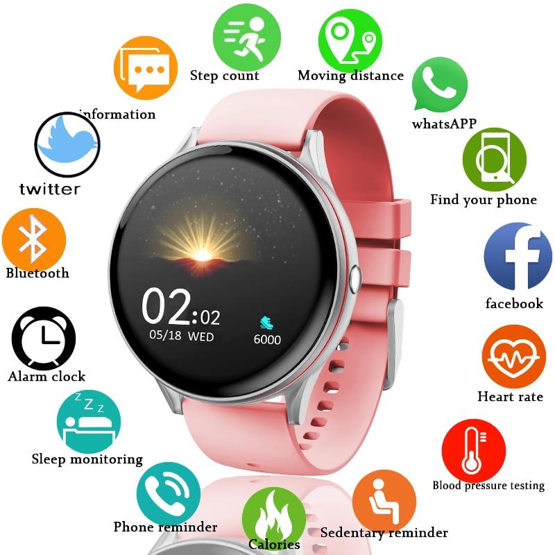 LIGE 2021 New Full Touch Screen Smart Watch Women Multifunctional Sport Heart Rate Blood Pressure IP