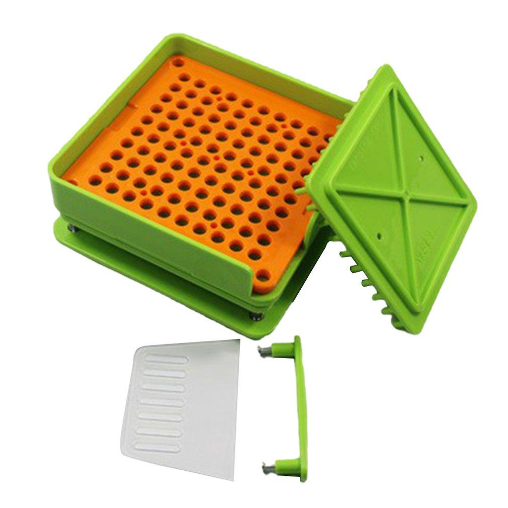 100 furos placa cápsula máquina de enchimento flate ferramenta encapsulador farmacêutico grau alimentício diy manual durável rápido